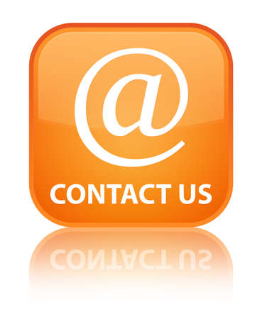 email contact: Contact us (email address icon) orange square button