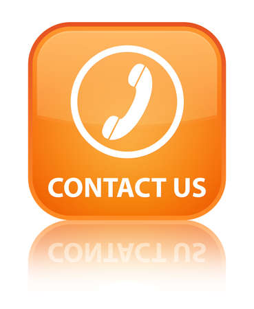 contact us phone: Contact us (phone icon round border) orange square button