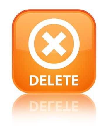 Delete orange square button photo