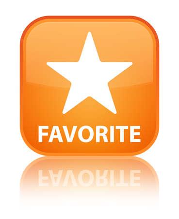 chose: Favorite (star icon) orange square button Stock Photo