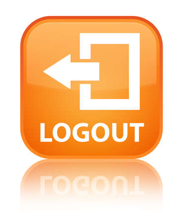 square button: Logout orange square button