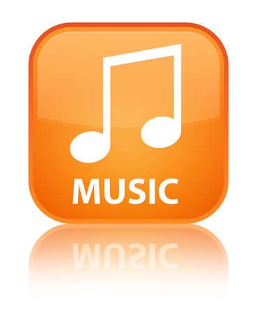 tune: Music (tune icon) orange square button