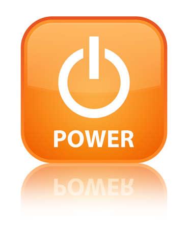 Power orange square button photo