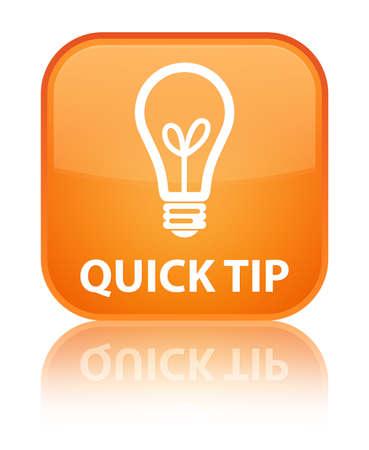 hint: Quick tip (bulb icon) orange square button
