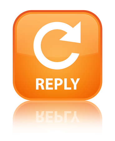 to rotate: Reply (rotate arrow icon) orange square button