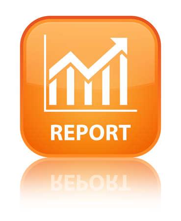 report icon: Report (statistics icon) orange square button