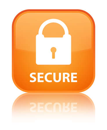 insecure: Secure (padlock icon) orange square button