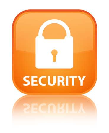 padlock icon: Security (padlock icon) orange square button
