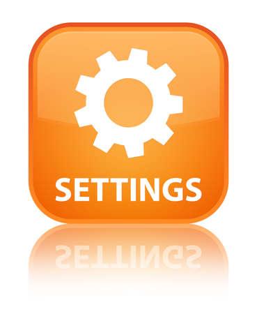 Settings orange square button