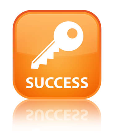 insecure: Success (key icon) orange square button