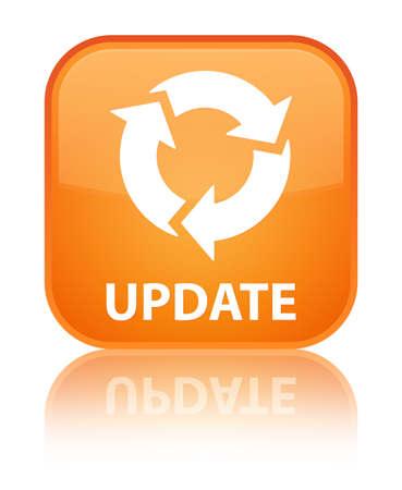refresh icon: Update (refresh icon) orange square button