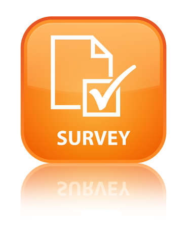 Survey orange square button photo
