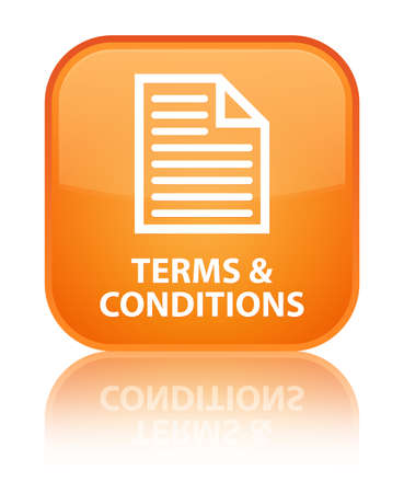 Terms and conditions (page icon) orange square button
