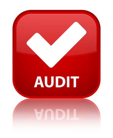 valider: Audit (validate ic�ne) de bouton carr� rouge