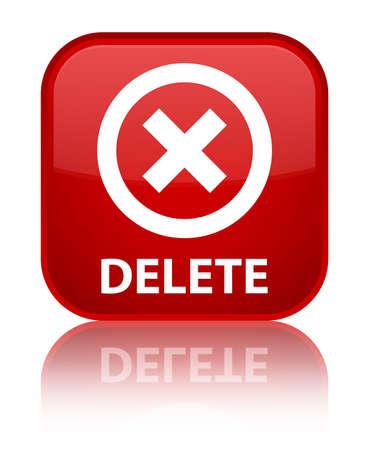 disagree: Delete red square button