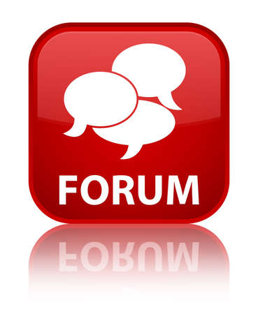 comments: Forum (comments icon) red square button