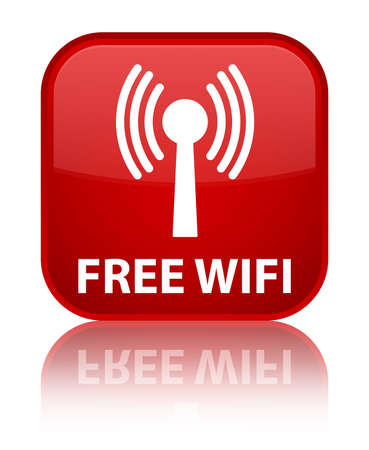 wlan: Free wifi (wlan network) red square button