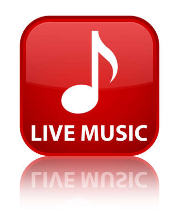 live music: Live music red square button