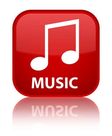 tune: Music (tune icon) red square button