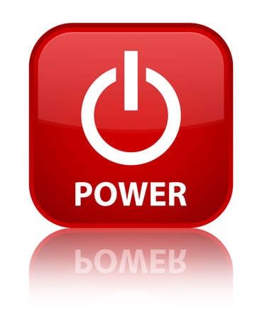 Power red square button photo