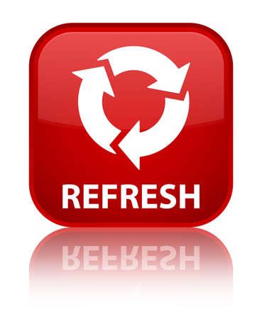refresh button: Refresh red square button