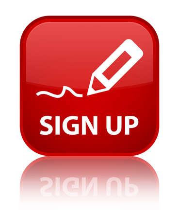 Sign up red square button