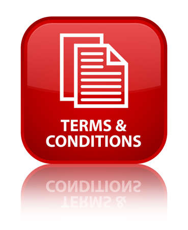 Terms and conditions (pages icon) red square button