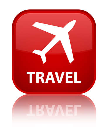airway: Travel (plane icon) red square button