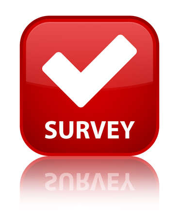 validate: Survey (validate icon) red square button