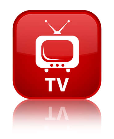 TV red square button photo