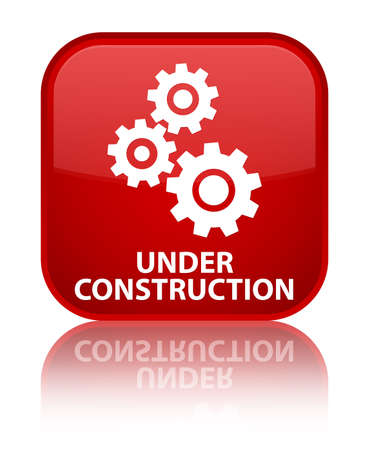 under control: Under construction (gears icon) red square button