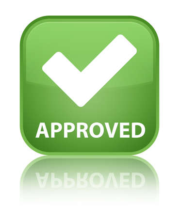 validation: Approved (validate icon) soft green square button