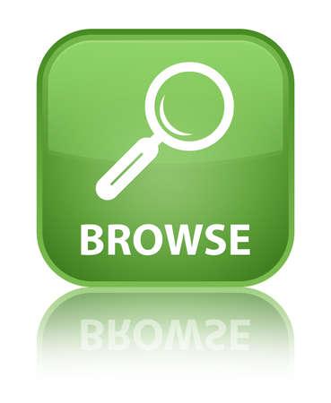 Browse soft green square button