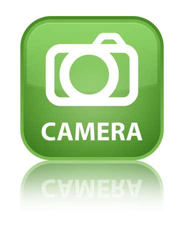 Camera soft green square button photo