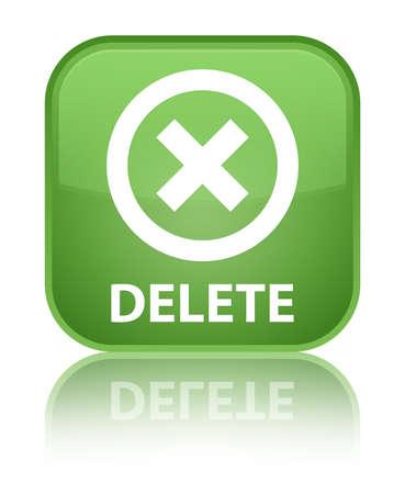 cancellation: Delete soft green square button