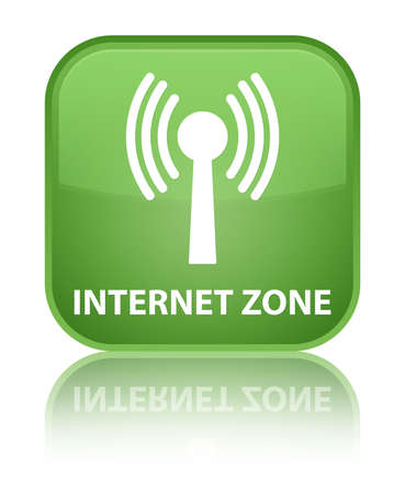 wlan: Internet zone (wlan network) soft green square button