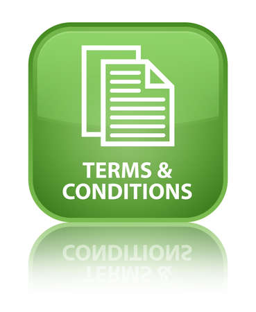 Terms and conditions (pages icon) soft green square button
