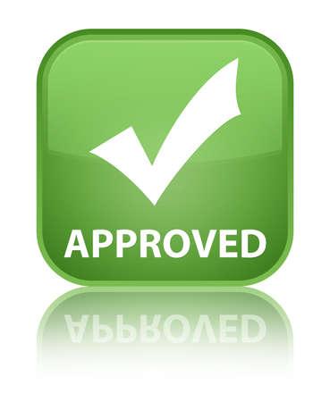 valider: Approuv� (validate ic�ne) bouton vert tendre carr�