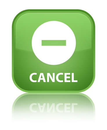 disagree: Cancel soft green square button