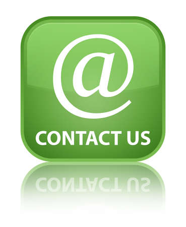email address: Contact us (email address icon) soft green square button