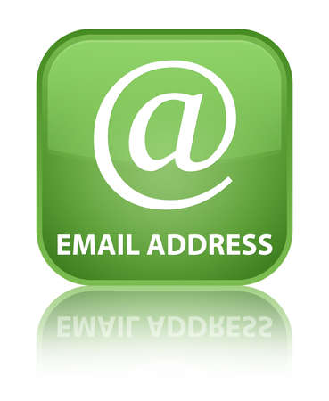 email address: Email address soft green square button