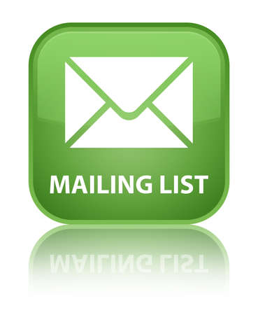 mailing: Mailing list soft green square button