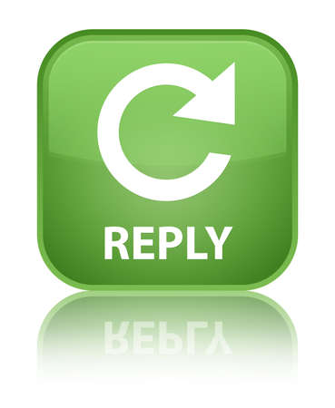 Reply (rotate arrow icon) soft green square button