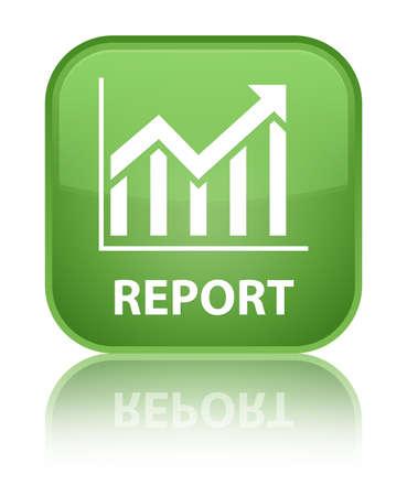 report icon: Report (statistics icon) soft green square button