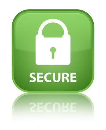 key hole shape: Secure (padlock icon) soft green square button