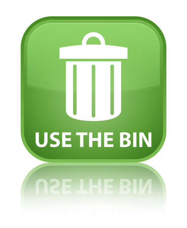 use: Use the bin (trash icon) soft green square button