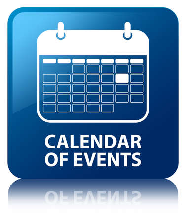 calendar icons: Calendar of events blue square button