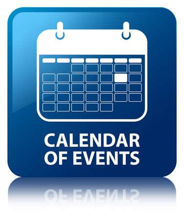 kalendarz: Kalendarz wydarzeń niebieski kwadrat przycisków