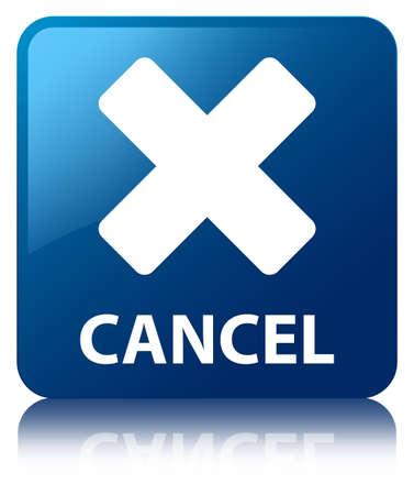terminate: Cancel blue square button