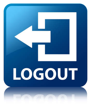 shut out: Logout blue square button
